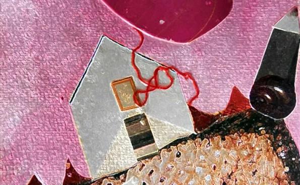 A pinkish house