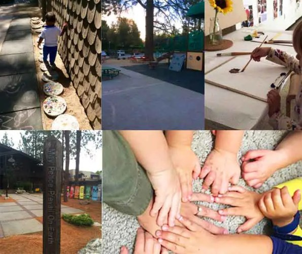 scenes of kids playing and learning