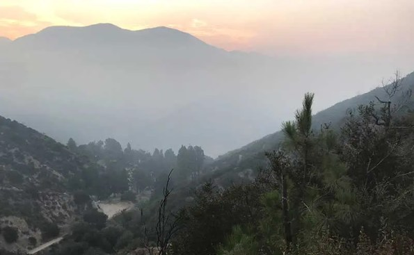 Smoke Covering the San Gabriel Valley