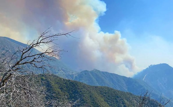 smoke in mountains and hills