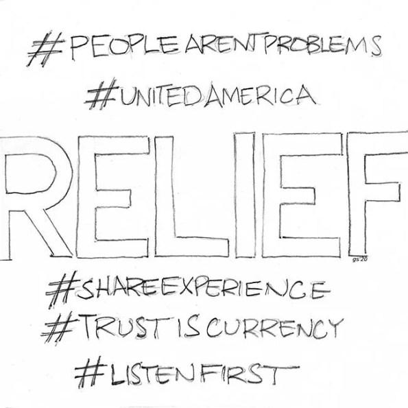 relief written in words