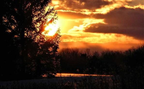 sunset with orange hue on the horizon