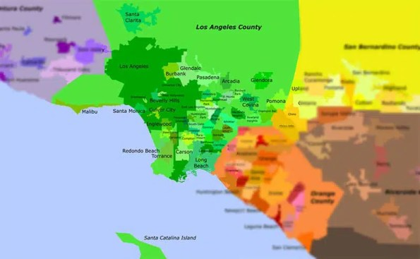 Map of cities anbd towns