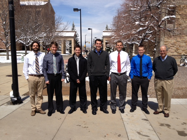 Wilbur Franklin (right) with members of the CU student design team.