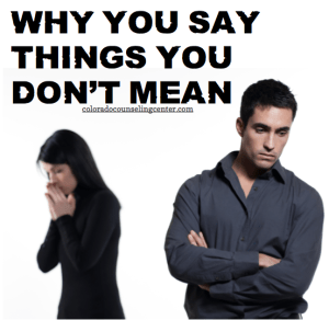 Why You Say Things You Don't Mean | Colorado Counseling Center