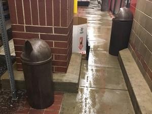 Clean Trash Receptacle