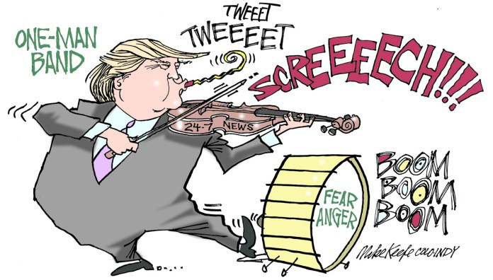 Donald Trump political cartoon
