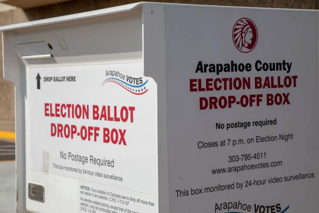 Arapahoe County election ballot drop-off box