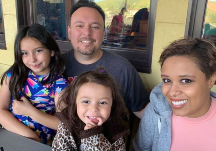 Amelia Martinez with her husband, Chris, and two children. (Photo courtesy of Martinez family))