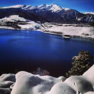 Snowy Tenmile Range overlook near Frisco, Colorado.