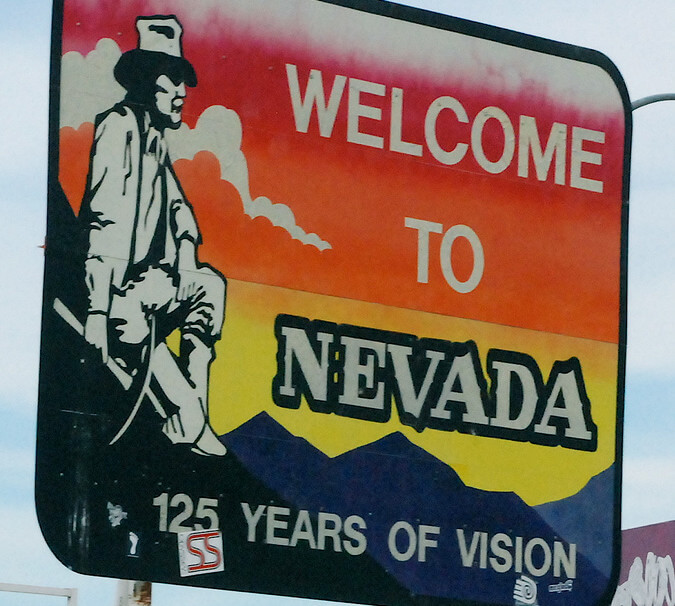Welcome to Nevada sign - Will a living execution chamber turn into a museum?