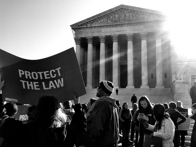 Obamacare protest at the Supreme Court