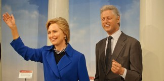 Bill and Hillary Clinton wax figures