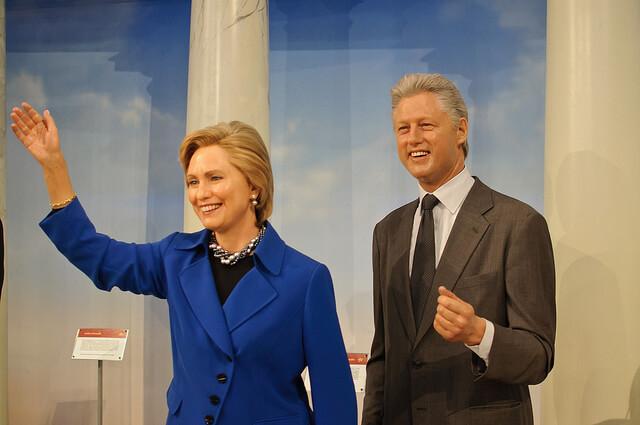 Bill and Hillary Clinton wax figures