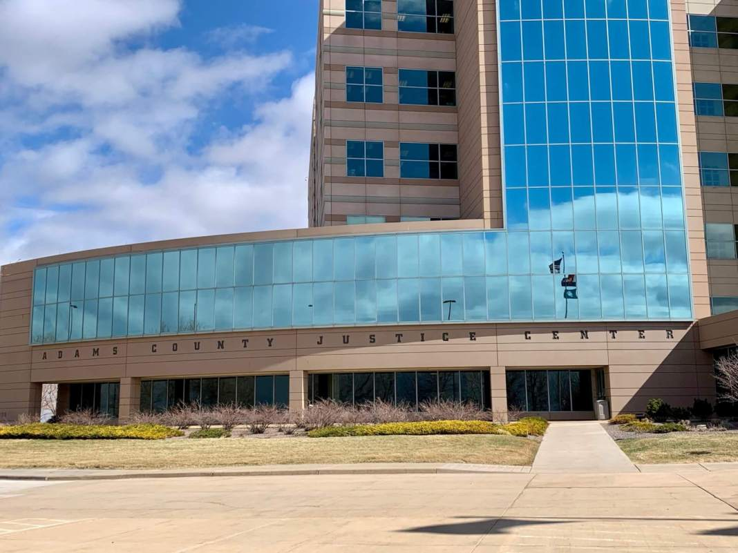 Photo of the Adams County Justice Center, taken Friday, Mar. 13, 2020.