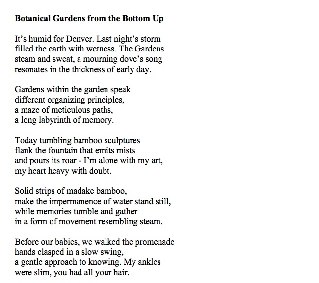 News Poem: 'Botanical gardens from the bottom up' - The