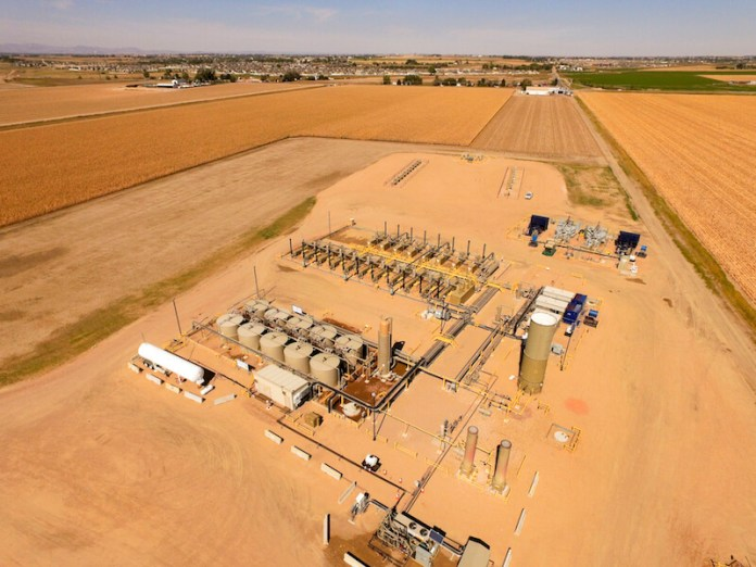 Extraction Oil & Gas well pad site near Windsor, Colorado. (Photo by Ted Wood/The Story Group)