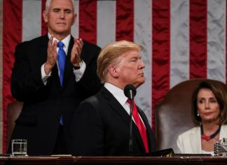 Vice President Mike Pence and President Donald Trump, pictured here during the Feb. 5, 2019, State of the Union address. (Photo by Doug Mills-Pool/Getty Images)