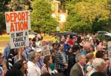 Condemning the federal government's practice of separating immigrant families at the U.S.-Mexico border, about 200 attended a rally east of City Park on Thursday evening in Denver. Similar rallies were held on Thursday in Pueblo and Aurora.