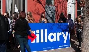 Bill Clinton rally crowd