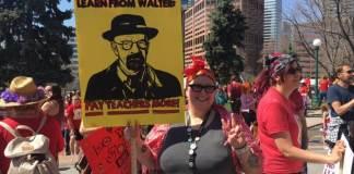 Photo of teacher protest