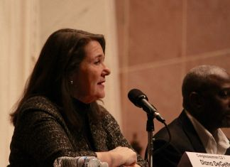 Rep. Diana DeGette at a candidate forum in Denver in October 2018. (Photo by Rachel Lorenz for The Colorado Independent)