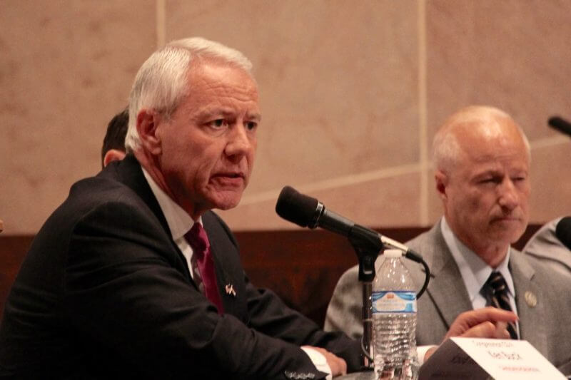 Colorado GOP Rep. Ken Buck at a candidate forum in Denver on Tuesday, Oct. 16, 2018. (Photo by Rachel Lorenz for The Colorado Independent)
