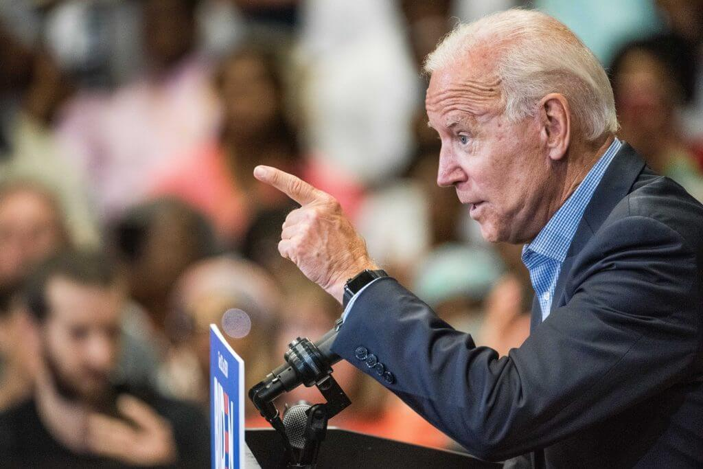 Former U.S. Vice President Joe Biden addresses a crowd at a town hall event at Clinton College on August 29, 2019 in Rock Hill, S.C. (Photo credit: Sean Rayford/Getty Images)