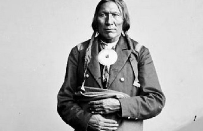 Chief Little Robe, whose Souther Cheyenne family was killed at Sand Creek.