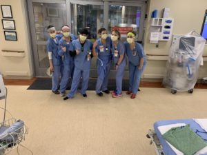 Nurses at St Joseph (From right to left: Kristi Legaarden, Katie Greer, Angie Romero, Jenn Fisk, Sarah Bailey, Wyn Chen) (Photo credit: Photo courtesy of Dr. Ramnik Dhaliwal)
