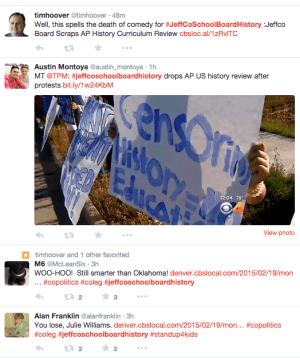 #JeffCoSchoolBoardHistory Twitter feed Thursday 2:29 pm