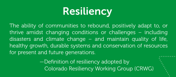 From the Resiliency Framework