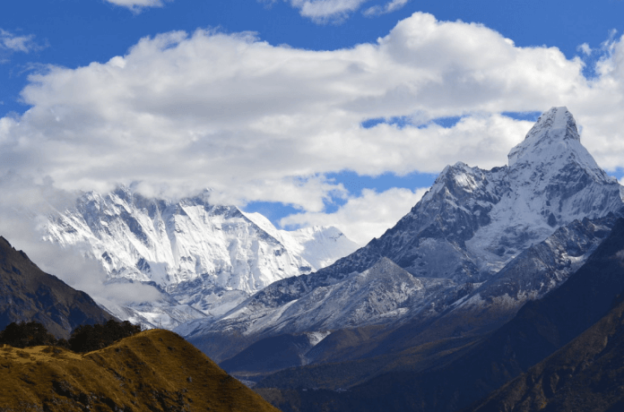 Gov. Jared Polis skipped the Nov. 5, 2019 Election Day count that saw Prop CC go down, leaving town a day earlier for a previously unannounced trade trip to India and Nepal. (Photo of mountains in Nepal by kelly-grainger via Flickr:Creative Commons)