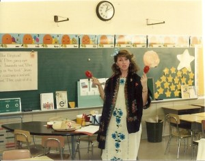 I'm not sure which school this was or what exactly Susie was celebrating. But I do know this is exactly what everyone's first-grade teacher ought to look like.