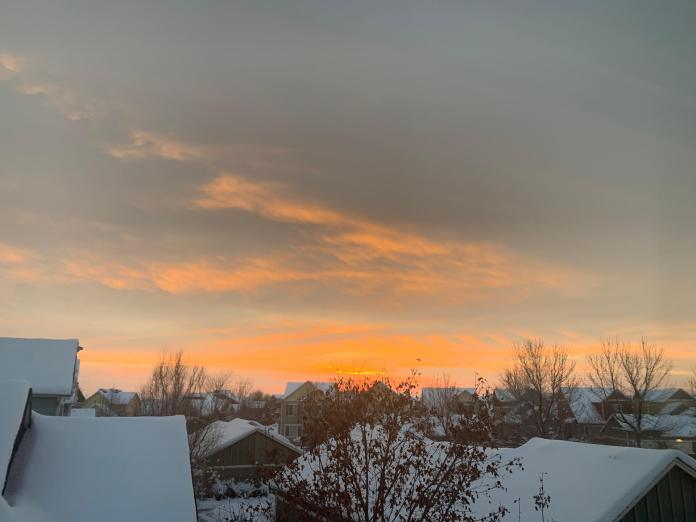 Thanksgiving morning view from Fort Collins. One more thing to be grateful for. (Photo by Tina Griego)