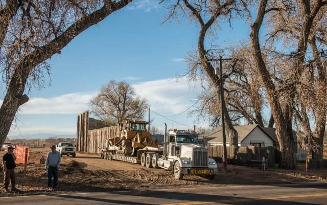 Extraction graded a road 30 feet from Triple Creek resident Dawn Stein's bedroom window.