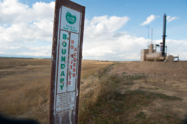Current Extraction Oil well in the next to Boulder Open Space in Broomfield. (Photo by Ted Wood/The Story Group.)