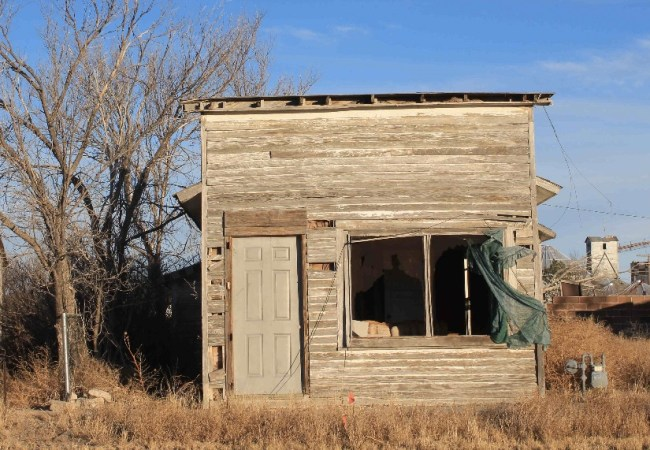 The Chivington Building near the Sand Creek Massacre site