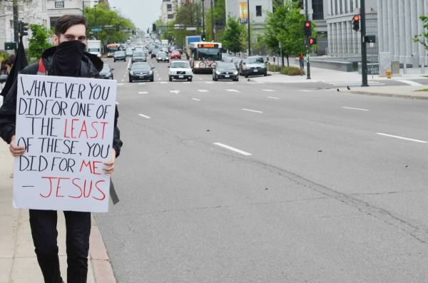 """""""As Christians, Jesus told us to stand with the poor and the oppressed … we're also called to love our enemies. We're called to love the police, the people who participate in a system of violence, but we're not called to stand with them, so it's tricky."""""""