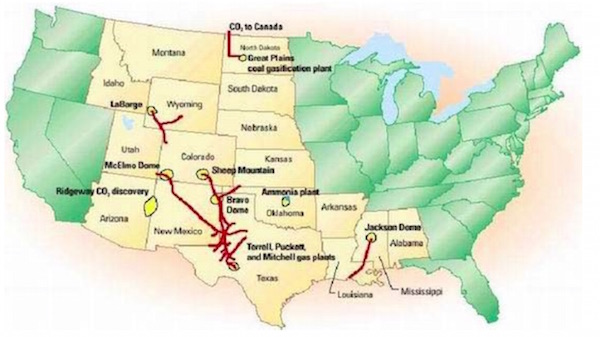 co2 pipeline map