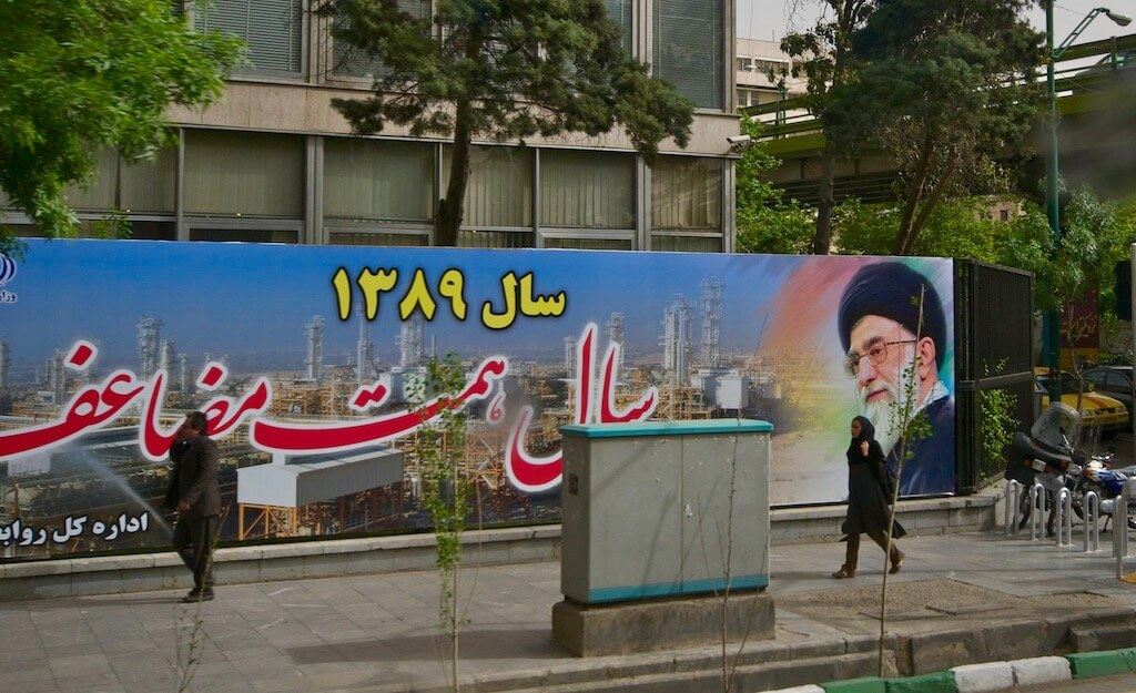 Street image in Tehran, Iran in 2010. (Photo by A. Davey via Flickr: Creative Commons)