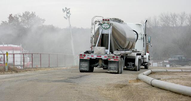 fracking truck