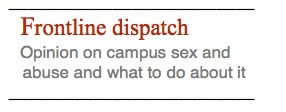frontline dispatch