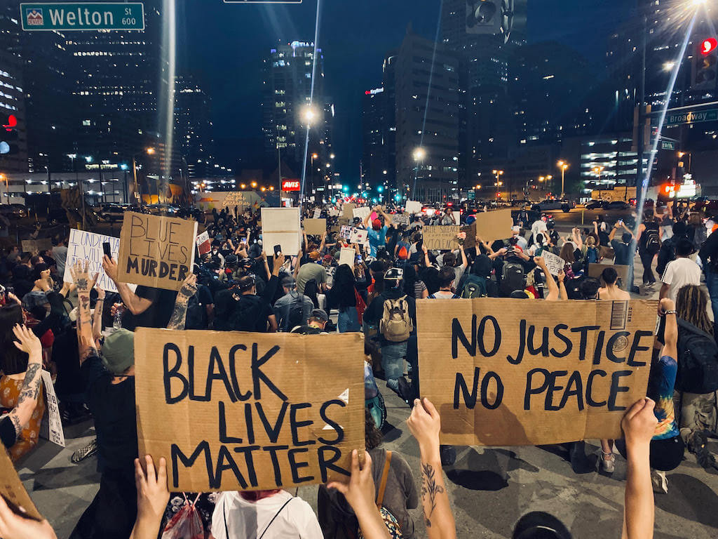 Welton Street in Denver on the fifth day of protests in reaction to the killing of George Floyd by Minneapolis police. June 1, 2020.