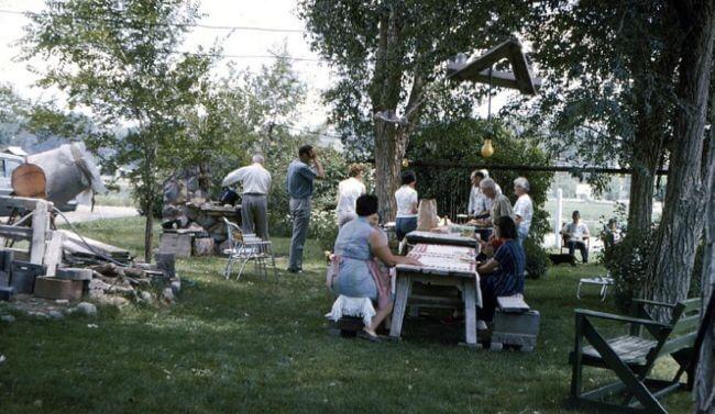 Backyard picnic, 1966, Rifle, Colorado.