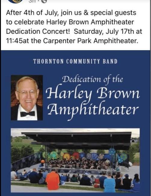 Harley Brown dedication ampitheater