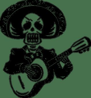 Halloween guitarist