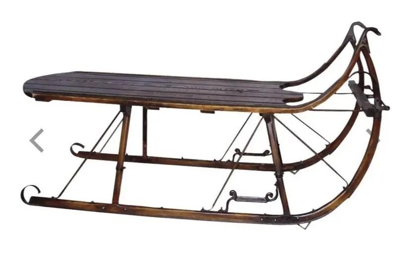vintage sleigh coffee table