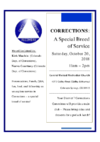 2018 corrections workshop flyer