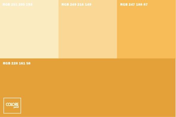 Come abbinare tra loro i colori. Abbinamento Diverse Tonalita Di Giallo